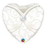 Balão Metalizado Coração 18 Polegadas - Vestido de Noiva - Qualatex