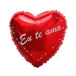 Balão Metalizado Coração eu te Amo 9'' 22cm Megatoon