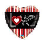 Balão Metalizado Coração Love 18''46cm Qualatex