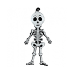 Balão Metalizado Esqueleto Halloween 74cm Grabo