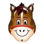 Balão Metalizado 32 Polegadas - Cavalo Engraçado - Qualatex
