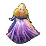 Balão Metalizado Rapunzel Tam.36 - 60cm X 51cm