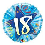 Balão Metalizado Redondo 18 Polegadas - 18 Estrela Brilhante, Azul Intenso - Qualatex