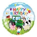 Balão Metalizado Redondo 18 Polegadas - Aniversário com Amigos no Celeiro - Qualatex