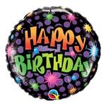 Balão Metalizado Redondo 18 Polegadas - Aniversário, Quantos Anos Você Tem? - Qualatex
