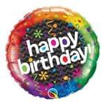 Balão Metalizado Redondo 18 Polegadas - Festa Deslumbrante de Aniversário - Qualatex