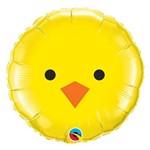 Balão Metalizado Redondo 18 Polegadas - Pintinho - Qualatex