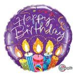 Balão Metalizado Redondo 18 Polegadas - Velas de Festa de Aniversário- Qualatex