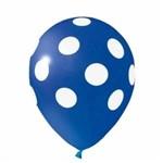 Balão N10 Bolinha Azul e Branco com 25 Unidades Pic Pic