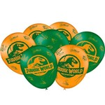 Balão para Vareta Latéx N9 - 23cm Jurassic World C/ 25 Unds