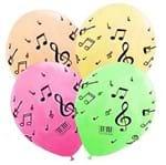 Balão Pic PIc N.9 Notas Musicais Neon Colorido