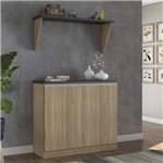 Balcão Multiuso de Cozinha 2 Portas com Bancada Siena Móveis Argila