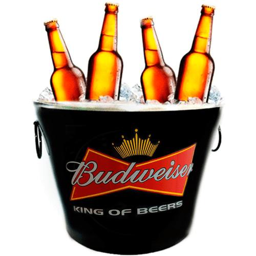 Balde de Cerveja Budweiser Preto