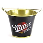 Balde de Gelo em Alumínio Cerveja Miller Genuine - Alumiart Falcão
