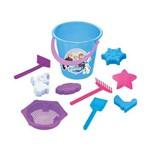 Balde de Praia Frozen Azul - Lider Brinquedos