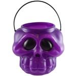 Baleiro Cabeça de Esqueleto Roxo - Halloween