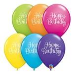 Balões Látex Redondo Sortido Tropical 11 Pol - Mensagem Elegante de Aniversário - Unitáio