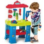 Bancada de Trabalho com Ferramentas e Acessórios Brinquedo Calesita
