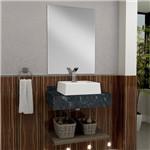 Bancada para Banheiro com Espelheira Tampo em Granito e Cuba Gaam Oroch 63Cm Ameixa/Verde Ubatuba