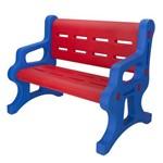 Banco Alpha Brinquedos Baby com 2 Lugares Azul e Vermelho