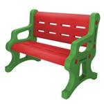 Banco Alpha Brinquedos Baby com 2 Lugares Verde e Vermelho