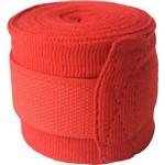 Bandagem Elástica Proaction com Poliéster - Vermelha