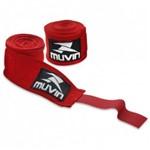 Bandagem Elastica Vermelha Muvin 3 Metros 2 Unidades