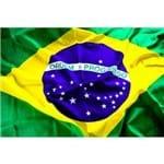 Bandeira do Brasil 1,80 X 1,20 Torcida Encaixe para Bastão