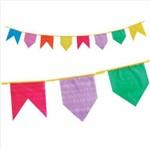 Bandeira Festa Junina Plástica 10 Mts Real Seda