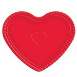 Bandeja Cartonada Coração Vermelho