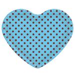 Bandeja Coração Azul Poá Marrom - 30cm X 35cm - Unidade