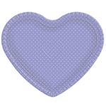 Bandeja Coração Lilás Poá Branco - 30cm X 35cm - Unidade