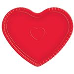 Bandeja Coração Vermelha - 30cm X 35cm - Unidade
