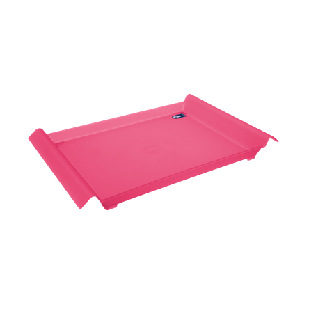Bandeja Grande - Mesa PP 45,5 X 29,6 X 5 Cm Rosa Coza