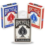 3 Baralhos Bicycle Standard - Cor Preto Vermelho Azul