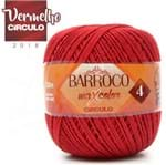 Barbante Barroco MaxColor Moda Nº04 200g - 3402 Vermelho Círculo
