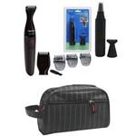 Barbeador e Aparador Philips Mg1100/16 2 Em1 à Prova D'água com Aparador de Nariz e Necessaire
