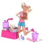 Barbie Family - Banho dos Filhotes - Mattel