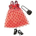 Barbie Fashion Fever Vestido Vermelho de Bolinhas
