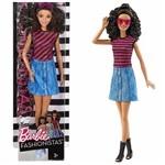 Barbie Fashionistas Morena com Saia Jeans Dvx77 Mattel