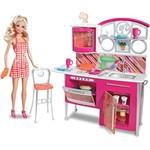 Barbie Móveis e Boneca Deluxe Cozinha - Mattel