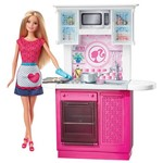 Barbie Móvel com Boneca Cozinha - Mattel