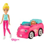 Barbie On The Go Carro Rosa e Boneca - Mattel