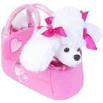 Barbie Pelúcias na Bolsinha Poodle Branco - Fun Divirta-Se