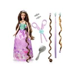 Barbie Princesa Penteado Mágico - Roxa - Mattel