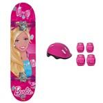 Barbie Skate com Acessórios e Adesivos Glitter - Fun Divirta-Se