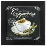 Barista Cappuccino Quadro 20 Cm X 20 Cm Preto/multicor