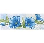 Barra Adesiva Litoarte BA1-IV-089 Flores Azuis By Lili Negrão