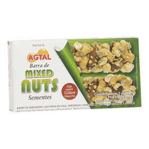 Barra de Mixed Nuts Agtal Sementes 60g (2x30g)