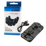 Base Carregador Duplo Dock Charge Controle Playstation 4 Ps4